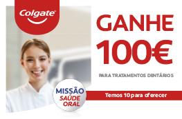Ganhe 100€ para Tratamentos Dentários