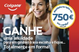 Colgate – Ganhe uma anuidade no valor de 750€ para um ginásio à sua escolha