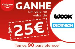 Ganhe um Voucher Decathlon ou Wook no valor de 25€