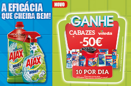 Ajax Boost - Ganhe 10 Cabazes Vileda por dia