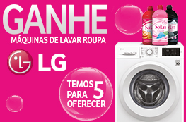 Ganhe Máquinas de Lavar Roupa LG
