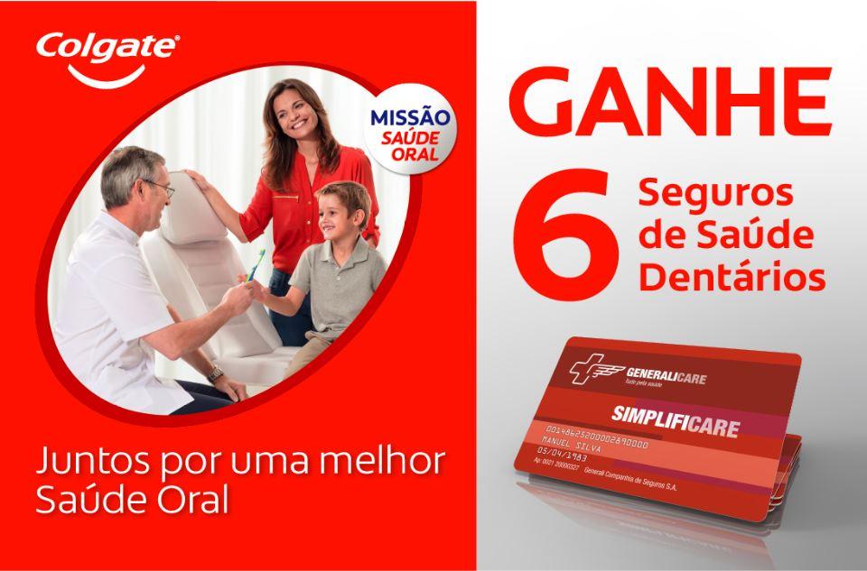 Colgate Mês da Saúde Oral - Ganhe 6 Seguros De Saúde Dentários