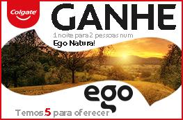 Ganhe 1 noite para 2 pessoas num Ego Natura!