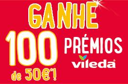 Ganhe 100 prémios Vileda no valor de 50€